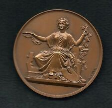 Woman Patron of the Arts Lyre Paint French Bronze Medal by BOVY & DUBOIS! M23a
