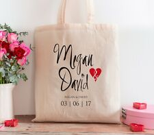 Personalised Wedding Favours Gift Cotton Wedding Tote Bag Shopper Bridesmaid