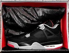 Nike Air Jordan 4 Retro BLACK CEMENT Size 12 BRED White Taxi Toe Levis OG 1 3 11