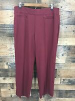 New Cato Women's Maroon Classic Straight Stretch Career Pants Size 18/20WP