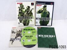 Metal Gear Solid 3 Snake Eater 20th Anniv Playstation 2 Japanese Import JP PS2