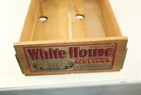 Vintage Farm Rustic Wood White House Produce Box Crate 231/2 x 16 1/4 x 7