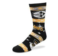 Pittsburgh Steelers NFL Ugly Holiday Snowman Sweater Crew Socks Black