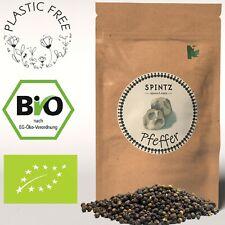 500g Bio Pfeffer schwarz ganz Pfefferkörner plastikfrei verpackt SPINTZ Bio 500g