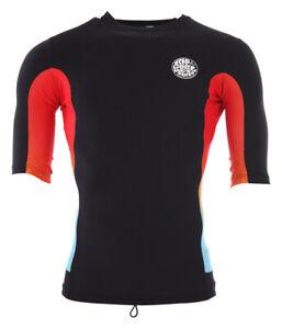 RIP CURL Surf Lycra T-Shirt TEAM AGGRO SS Lycra 2019 black Wassersport Bademode