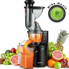 75MM Big Mouth Fruit Vegetable Juicer Machine Quiet Whole Slow Pulp Extractor