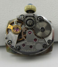 Zenith/ Movado Watch Movement 17 jewels Swiss dial hands crown vintage