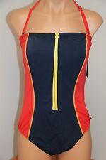 New Tommy Hilfiger Swimsuit 1 one piece Size 12 Zipper Front