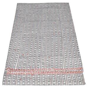 Indian Hand Block Handmade Ikat Print Kantha Quilt Twin Reversible Bedspread