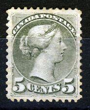 Canada REGINA VITTORIA 1876 5c. piccola testa olive-green SG 85 MINT V poco GUM