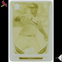 JACK FLAHERTY RC Rookie Card 1/1 2014 BOWMAN CHROME MINI PRINTING PLATE YELLOW