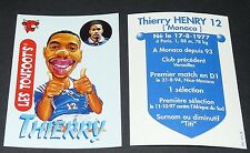 THIERRY HENRY MONACO VACHE QUI RIT TOUFOOT'S FOOTBALL FRANCE 98 1998 PANINI