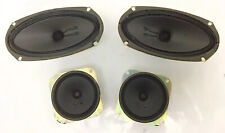 """1967 Sony Speaker Set (2) 4 x 7 (2) 4"""" From Tc-530 Reel To Reel Player -"""