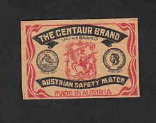 Ancienne étiquette allumettes Autriche BN5417 Centaure
