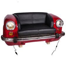 Divano Auto 2 posti design industrial pelle fari e luci artigianale Cod. M-9898