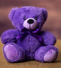 "6"" Purple Plush Teddy Bear Stuffed Animal Toy Gift New"