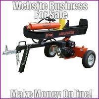 Fully Stocked LOG SPLITTERS Website Business|FREE Domain|FREE Hosting|Traffic