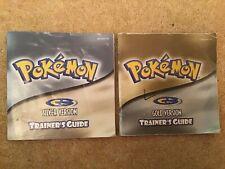 Original Nintendo Gameboy POKEMON GOLD & SILVER Trainers Guide instruction Book
