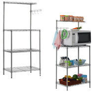 Baker Rack Shelves Kitchen Cart Workstation 3-Tier Microwave Stand Oven Storage