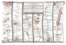 Antique map, The Road from London to Barnstable plate 032