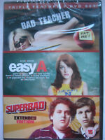 Bad Teacher / Easy A / Superbad (DVD, 3 Movie Set) NEW SEALED PAL Region 2