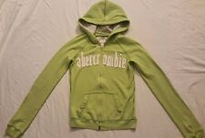 Abercrombie Lime Green Zip-Up Soft Sweatshirt Hoody Pockets Girl's Large