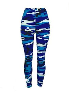 Blues & Black CAMO!! OS Camouflage Leggings Pants Buttery Soft One Size