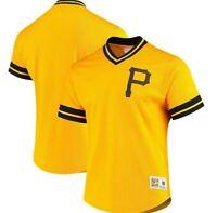 Mitchell & Ness Pittsburgh Pirates Baseball Jersey New Mens MSRP $80