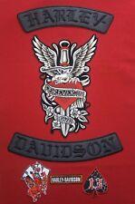 Harley Davidson (BLACK ) Rockers With Dagger Heart Plus Bonus Patches