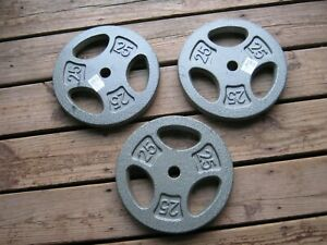 CAP Barbell Standard 1 Inch Grip Weight Plate Gray 25 lbs sell as each plate