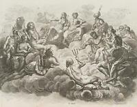 CHODOWIECKI (1726-1801). Der Olymp mit den hohen Göttern; Druckgraphik 1