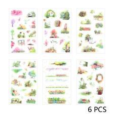 6pcs Secret Garden Stickers  DIY Journal Album Decorative Stickers Craft