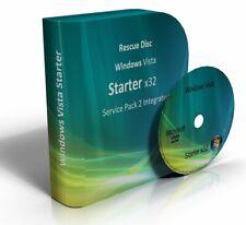 Windows Vista Starter 32 Bit Re-Install Restore Repair Recovery SP2 Boot DVD