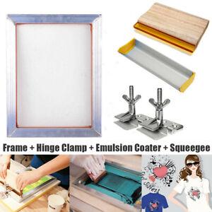 T-Shirt A3 Screen Printing Kit Aluminum Silk Screen Frame Hinge Clamp Squeegee