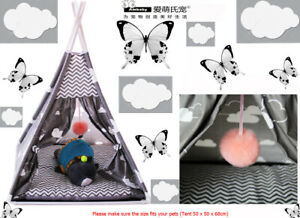 Ambaby Detachable Stable Dog Cat Cozy Teepee Tent Bed Pet House W 1 Soft Cushion