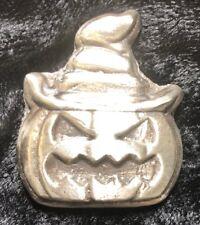 """1.75 Troy Oz Mk BarZ """"Witches Jack O' Lantern"""" Hand Poured .999 FS"""