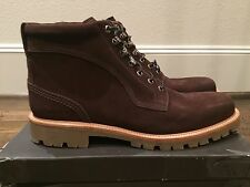 900$ Bally Wellys Brown Suede Boots Size US 12 Made in Switzerland