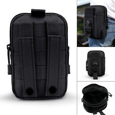 Black Army Tactical Waist Bag Case for Mobile Phone Pouch Purse Belt Loop Hook