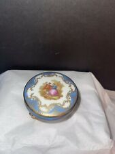 Vintage Courting Scene Romantic Victorian Couple Trinket Jewelry Porcelain Box
