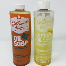 Holloway House Lemon Oil Furniture Polish and Oil Soap With Lemon Vintage
