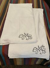 Luxury Oversized Mr Mrs Embroidered White Beach Towel Wedding Newlywed Gift Set
