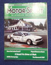 Motor Sport September 1986 Maserati 250F, Brands Hatch 1000kms, Lotus Excel SE,
