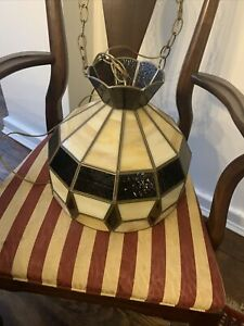 Vintage Tiffany Style Stained Glass Hanging Light Lamp Shade Ceiling Chandelier