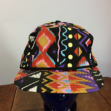 0383da51 Vintage 80s 90s Abstract Blank Plain Snapback Hat Cap Fresh Prince Grunge