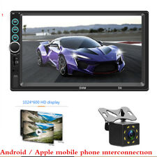"7"" HD Screen 2 Din Car MP5 Radio Audio Stereo Bluetooth Video Player + Camera"