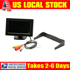 "4.3"" LED Rear View Display TFT LCD Color Monitor For Car Camera DVD VCR Input"