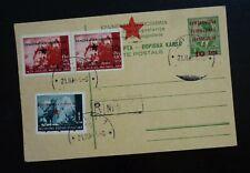 Croatia 1945 Yugoslavia Slovenia Postal Stationery - Provisory Stamps - Rare! C1
