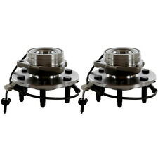 2 Front Wheel Hubs & Bearings Pair Set w/ ABS for Chevy GMC Truck 4X4 4WD AWD