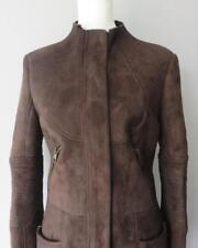 Gucci por Tom Ford de piel de oveja de piel de cordero cuero chaqueta abrigo