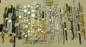 Lot of 101 Womens Mens Seiko Pulsar Fossil Citizen Casio Quartz Wind Up Watches